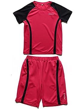 WEISHILI Abbigliamento calcio (Maglia da calcio + Pantaloncini calcio) per il bambino (3 colori da scegliere :...