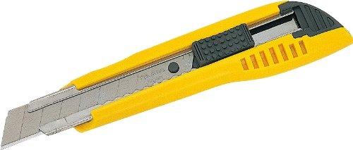 Tajima LC500YB Cutter 18 mm avec blocage par bouton-poussoir, Jaune