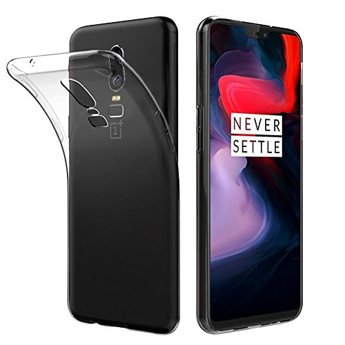 FayTun Handyhülle für OnePlus 6, OnePlus 6 Hülle -Ultra Dünn Case-Anti-Fingerabdruck,Scratch,Staub-Premium FederLeicht Silikon Schutzhülle für OnePlus 6, Transparent