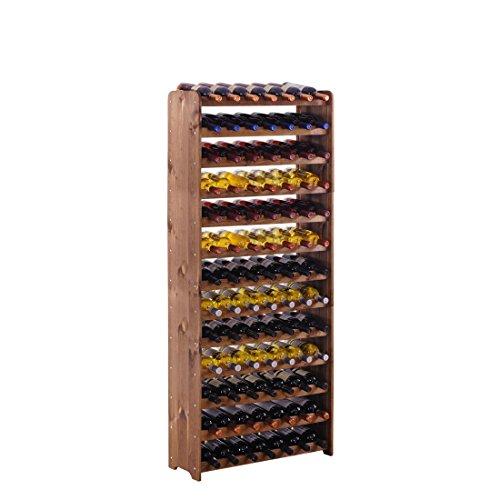 """Weinregal / Flaschenregal System """"Optiplus"""" Modell 5, für 91 Fl., Holzverbundstoff, braun gebeizt"""