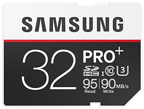 Samsung Speicherkarte SDXC 32GB PRO Plus UHS-I Grade U3 Class 10 (bis zu 95MB/s lesen, bis zu 90MB/s schreiben), frustfrei