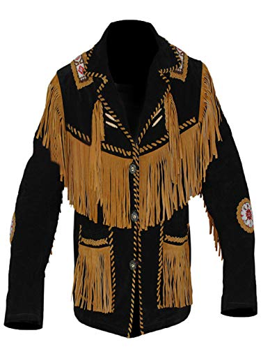 Mens Western Cowboy Real Suede Leather Jackets for Sale 48 XL -