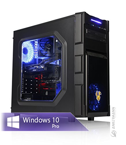 Ankermann-PC GAMING PC, 24 meses de garantía, Intel i7 7700 4x3.6Ghz, GeForce GTX 1050 Ti 4GB 4K, 8GB RAM, 240GB SSD, 1TB HDD, Windows 10 Pro, Silent
