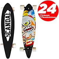 ScandalL Longboard Cruiser Skateboard Abec 7 - Cubierta de alta velocidad 104 cm Canadian Maple Layers Board para Niños y niñas