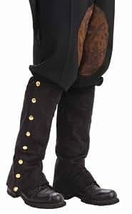 Aptafêtes AC5631 - Guetres noir en faux daim steampunk