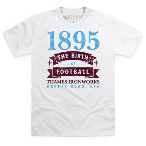 West Ham - Birth of Football T-Shirt, Herren Wei