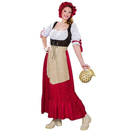 Kostüm historische Bäuerin (Kleid, Schürze, Haube) - Historische Kostüm