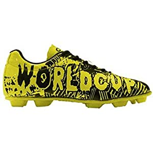 Cosco World Cup Football Shoes -Yellow, Black (6 UK/India)