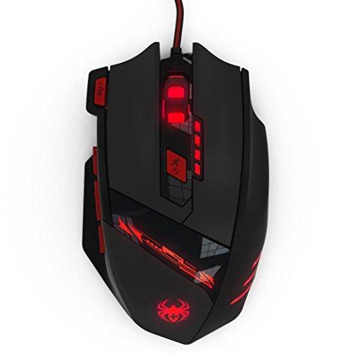 Wired Gaming Maus, yukong _ 8000DPI 8Schlüssel Speicher-Chips Design 6Optische LED Wired Spiel Maus Mäuse mit 3Licht Modus Schalter -