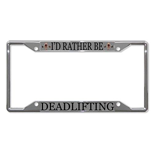 Metall-Kennzeichenrahmen mit 4 Löchern für Herren, Damen, mit Aufschrift