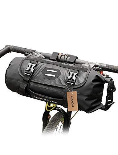Lixada Lenkertaschen für Fahrrad Wasserdicht Einstellbar Kapazität Fahrrad Frontrohr Tasche Abnehmbar(3-7L)