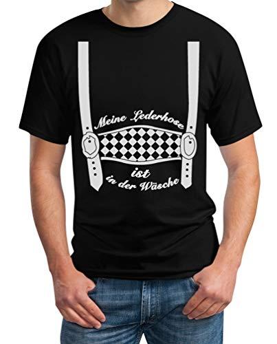Oktoberfest Outfit - Meine Lederhose ist in der Wäsche - Trachten Herren Tshirt 4XL Schwarz