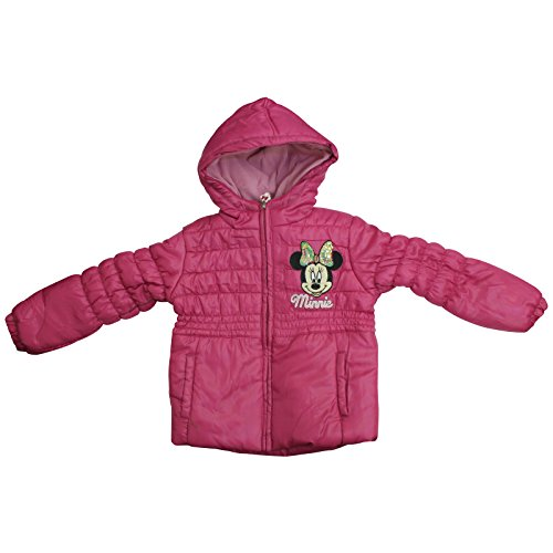 Official Licensed Disney Girls Minnie Mouse Pink Winter Padded Jacket Coat Age 2 4 6 8 Years