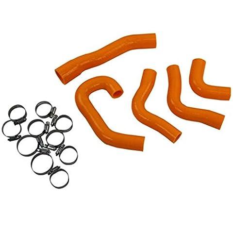 primecooling Flexible Pinces Tuyau de radiateur en silicone pour KTM 1190RC82008- 15(Orange)
