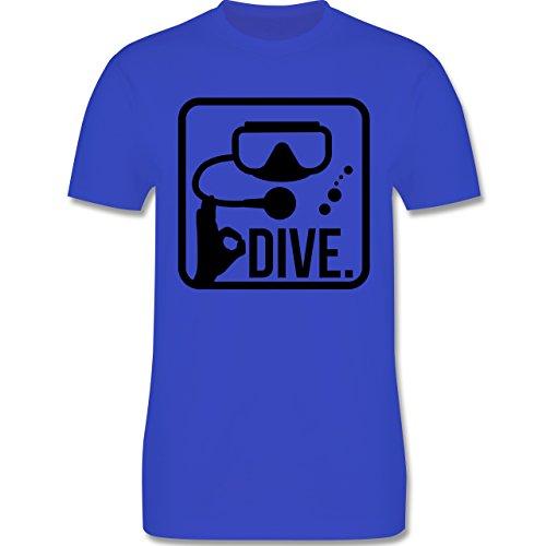 Wassersport - Dive. - XXL - Royalblau - L190 - Herren T-Shirt Rundhals