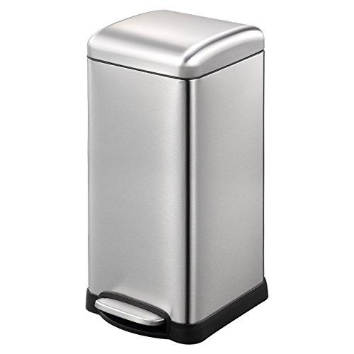 Lyndan - 30 litros 30L acero inoxidable a prueba de huellas dactilares con cierre suave tapa, cocina, garaje, cobertizo y uso en el hogar Reciclar cubo de basura Eco Reciclaje
