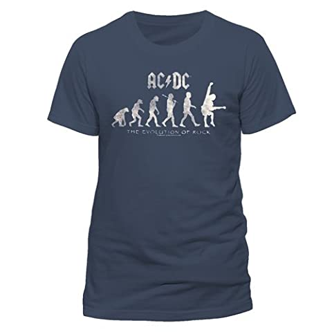 AC/DC The Evolution of Rock Logo T-Shirt Offizielles Lizenzprodukt|XL