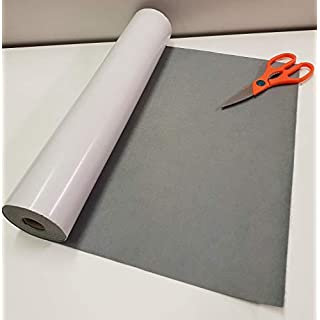 Two Metres x 450mm Wide roll of Grey Sticky Back SELF Adhesive Felt Baize