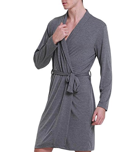 Men's Sleepwear Summer Thin Section Nightgown Modal Pajamas Comfortable And Breathable Bathrobe Bathrobes Have A Belt