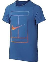 Nike Ya Irridescent Court Tee Yth - Camiseta de manga corta para niño, color azul, talla M