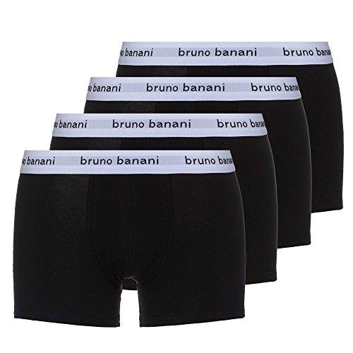 bruno banani snazzy 4er Pack Herren Unterhosen Boxer-Shorts Männer Unterwäsche | schwarz | XL