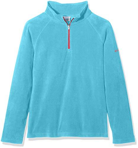 Columbia Mädchen Glacial Half Zip Fleece Jacket, Blau, Rot (Atoll, Red Camellia), XXS | 00191454613431