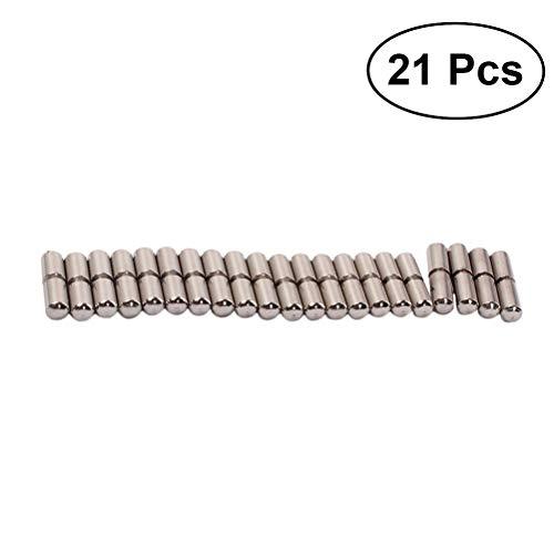 LIOOBO 21 Stücke Guzheng Brücke Pins String Pegs Nagel für Chinesische 21-Saiten Zither Guzheng Koto Musical Saiteninstrumente Teile Zubehör