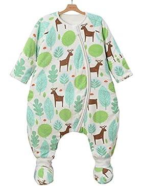 Chilsuessy Babyschlafsack Baby Winterschlafsack 2.5 Tog Kleine Kinder Ganzjahres Schlafsack mit abnembar Ärmel...