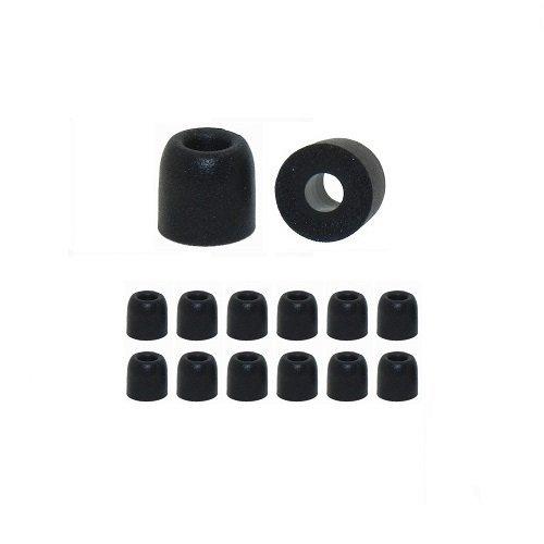 4,4 Mm, Schwarze Spitze (Earphones Plus Memory Foam Kissen für in-Ear-Kopfhörer)