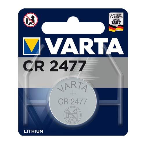 Varta 6477101401 Electronics CR2477 Lithium Knopfzelle Single Blister 3V Batterie Silber, 1er Pack 3v Single