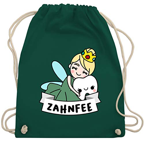 Karneval & Fasching - Zahnfee Kostüm - Unisize - Dunkelgrün - WM110 - Turnbeutel & Gym Bag