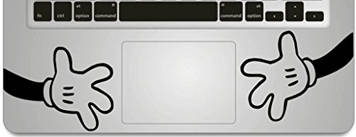 Vati Blätter Removable Big Hände Humor Teilhandmade Art Haut kühler Entwurf Vinylabziehbild Aufkleber für Trackpad Tastatur des Apple Macbook Pro Air Mac Laptop