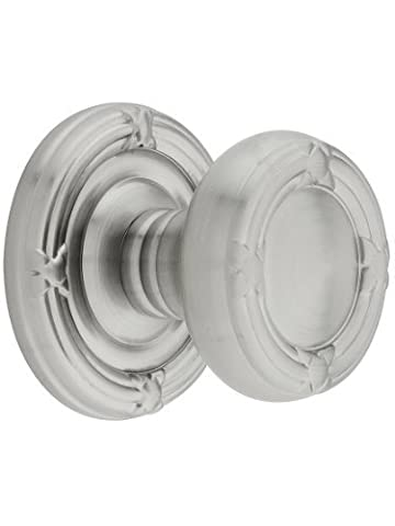 Ribbon And Reed Door Set With Round Brass Knobs Passage In Satin Nickel. Old Door Knobs And Hardware. by Emtek