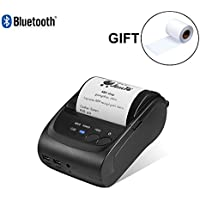 58mm Bluetooth Thermal Wireless Printer MUNBYN Thermal Receipt Printer for Android with Rechargeable Battery ESC/POS