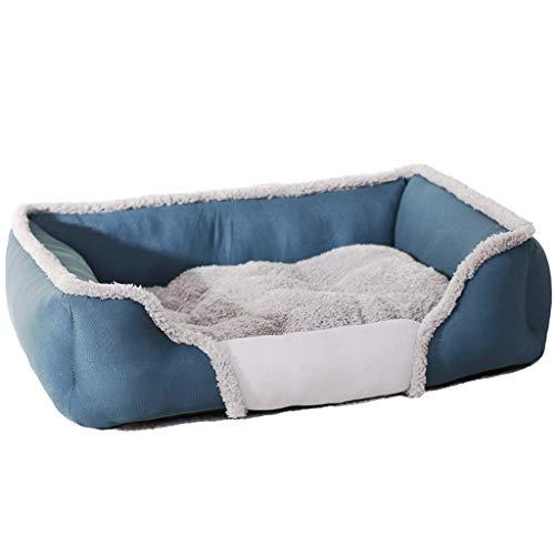 Haustierbett Hundebett Katzenbett - Haustierzubehör Pet Bett Kissen Rechteck Weicher Nest mit Abnehmbarem Gepolsterten Völlig Waschbar -
