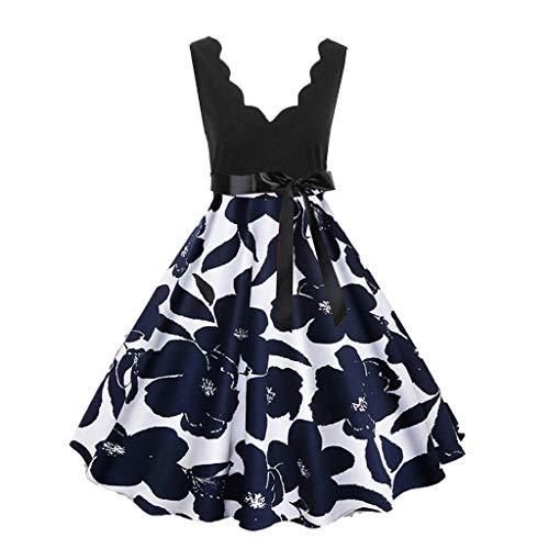 IZHH Damenmode Elegante Kleider, ärmellos Blusenkleid Mode Cocktailkleid Geschenkideen...