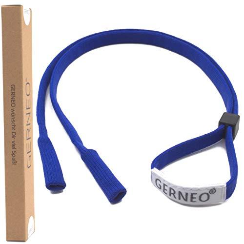 GERNEO® - DAS ORIGINAL - Premium Sportbrillenband & Brillenband Sport für Sportbrillen, Sonnenbrillen, Lesebrillen, Skibrillen - in diversen Farben - wasserfest (Königsblau)