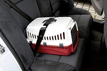 Kerbl Expédition Boîte de Transport pour Chien Crème/Bordeaux 45 x 30 x 30 cm