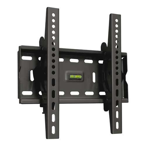 "TooQ LP4537T-B - Soporte fijo inclinable de pared para monitor/TV/LED de 17"" a 37"", hasta 75kg de peso, distancia a la pared 63mm, incluye nivel de burbuja, inclinacion -15º, formato VESA hasta 300x300, color negro"
