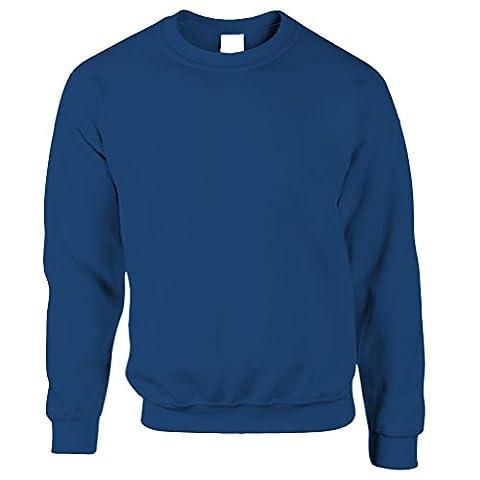 Plain Crew Neck Long Sleeve Sweatshirt