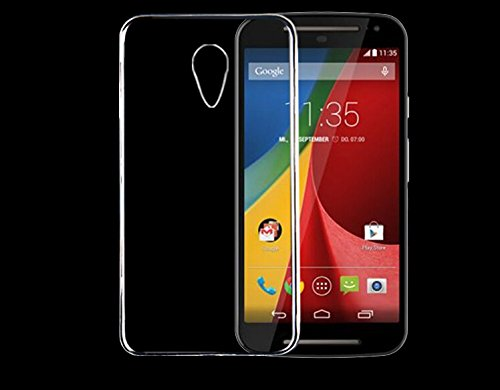 JM Soft Silicone Jelly Transparent Crystal Clear Case Soft Back Case Cover For Motorola Moto G2 G 2 (2Nd Gen) 2014