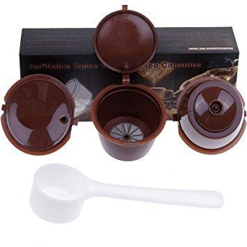 Paide [3pcs Cápsulas de café Recargables y Reutilizables - Dolce Gusto Marron