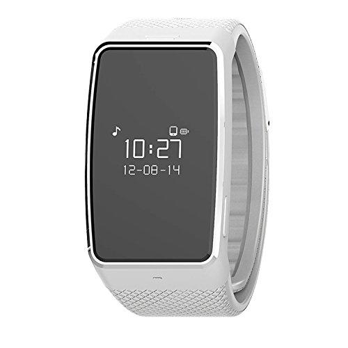 MyKronoz Zewatch 4 Smartwatch, Argento/Bianco, Taglia Regolabile