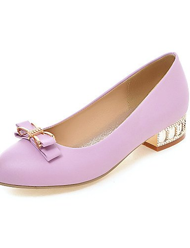 ZQ Scarpe Donna - Mocassini - Casual - Punta arrotondata - Basso - Finta pelle - Nero / Viola / Beige , purple-us8 / eu39 / uk6 / cn39 , purple-us8 / eu39 / uk6 / cn39 purple-us6 / eu36 / uk4 / cn36