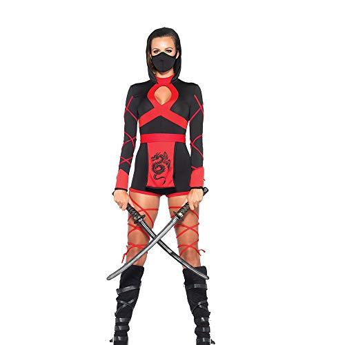 Home-soft Halloween Cosplay Set, Schwarz Sexy Assassinin Kostüm, Anime Ninja Kostümparty Kostüm (Mut Anime Kostüm)