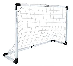 Iso Trade Fußballtor Set 116x79cm Groß Ball Handpumpe Leicht Starkes Netz Einfache Montage #5617