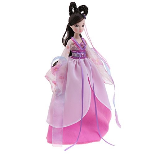 Gazechimp Flexible Kostüm Puppe chinesisch sieben Prinzessin Puppe Figur Fee Modepuppe Dekopuppe Spielzeug Geschenk für Mädchen - (Fee Diy Kostüm Lila)