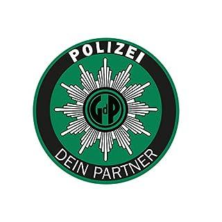 Polizei GdP Aufkleber Strafzettel-Knöllchenstop Autoaufkleber Sticker Waschstrassenfest UV-Beständig Premium Edition