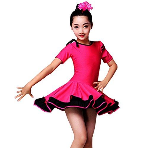 XFentech Kinder Mädchen Tanz Kleidung Doppel Saum Latein -