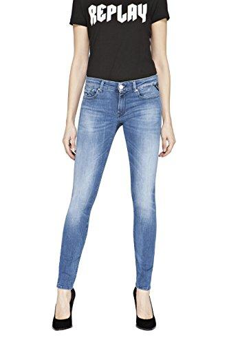 Replay Luz, Jeans Donna Blu (Blue Denim 10)